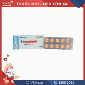 Thuốc trị gút Allopurinol 300mg