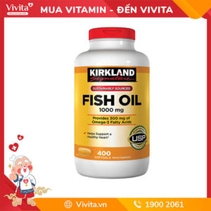 viên dầu cá Kirkland Fish Oil 1000mg