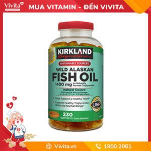 Viên uống dầu cá biển sâu Kirkland Wild Alaskan