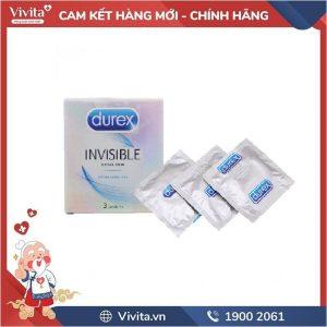 Bao Cao Su Durex Invisible Hộp 3 cái