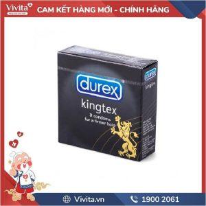 Bao Cao Su Durex Kingtex Hộp 3 cái