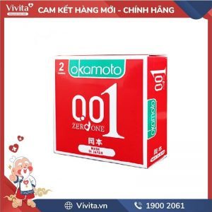 Bao cao su Okamoto 0.01 PU (2 cái/ hộp)