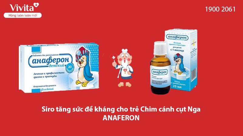 Siro tăng cường sức đề kháng cho trẻ nhỏ Anaferon