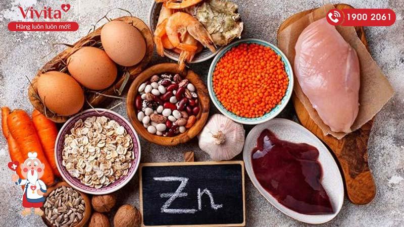 bổ sung thực phẩm giàu kẽm giúp tăng số lượng tinh trùng khỏe mạnh