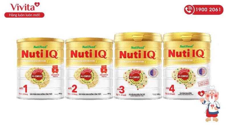 sữa phát triển trí thông minh nuti iq gold