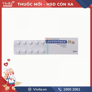 Thuốc trị bệnh lý tuyến giáp Levothyrox 50mcg