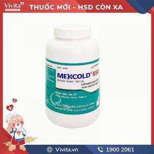 Thuốc giảm đau, hạ sốt Mexcold 650 Imexpharm