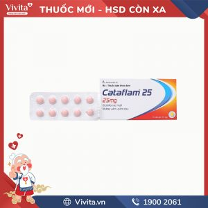 Thuốc giảm đau, kháng viêm Cataflam 25mg