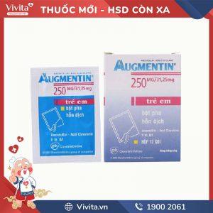 Thuốc kháng sinh trị nhiễm khuẩn Augmentin 250mg/31.25mg