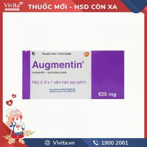 Thuốc kháng sinh trị nhiễm khuẩn Augmentin 625mg