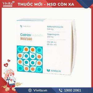 Thuốc kháng sinh trị nhiễm khuẩn Cotrimoxazole 800/160