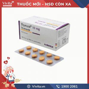 Thuốc trị cường giáp Thyrozol 10mg
