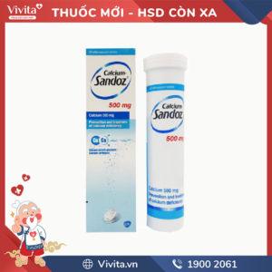 Viên sủi bổ sung Canxi Calcium Sandoz 500mg