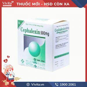 Thuốc kháng sinh trị nhiễm khuẩn Cefalexin 500mg