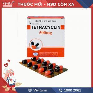 Thuốc kháng sinh trị nhiễm khuẩn Tetracycline 500mg