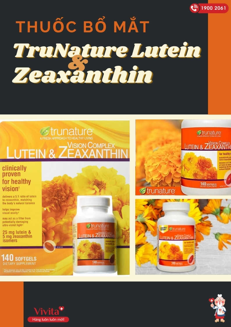 Thuốc bổ mắt TruNature Lutein & Zeaxanthin