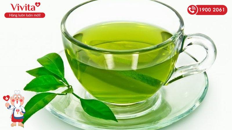 trà xanh giải độc gan trị mụn