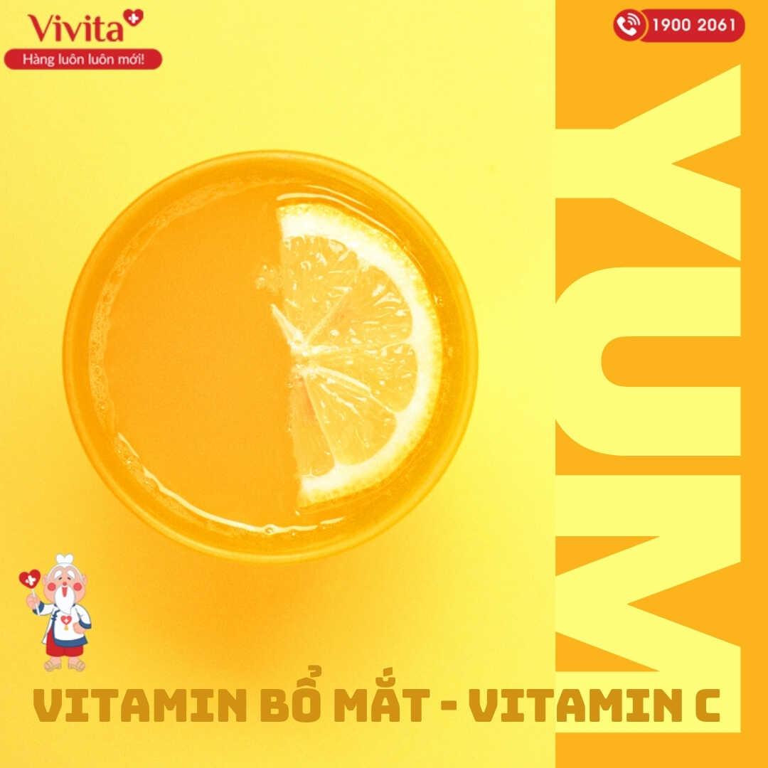 Vitamin C bổ mắt cho trẻ