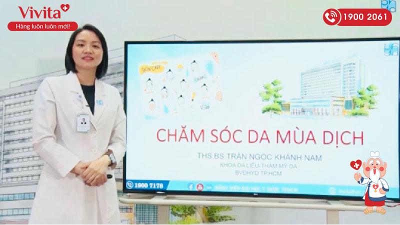 Bác sĩ Khánh Nam tư vấn cách chăm sóc da mùa dịch