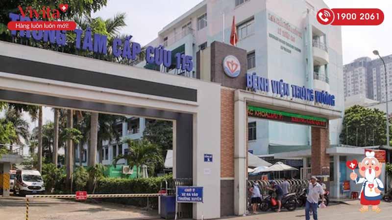 Cổng chính bệnh viện Trưng Vương