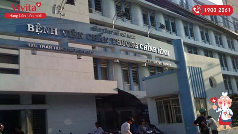 Cổng chính bệnh viện Chấn thương chỉnh hình