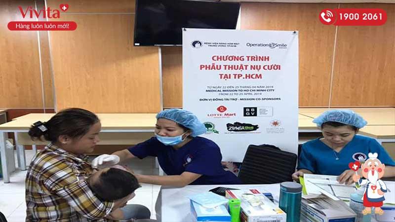 """Chương trình """"Phẫu thuật nụ cười"""" do bệnh viện Răng Hàm Mặt Trung ương TP.HCM đồng tổ chức"""