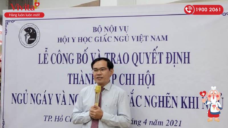 TS.BS Nguyễn Như Vinh – Chủ tịch chi hội Ngủ ngáy và ngưng thở tắc nghẽn khi ngủ