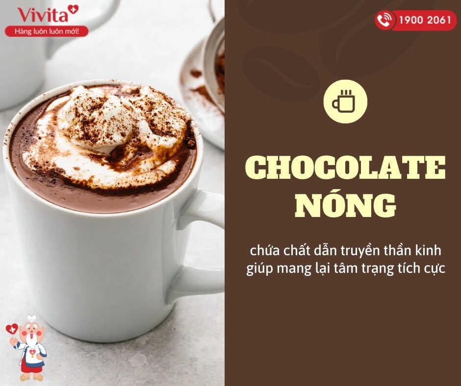 Uống chocolate nóng có thể cải thiện lưu lượng máu não, nồng độ oxy trong não.