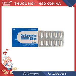 Kháng sinh clarithromycin 500mg