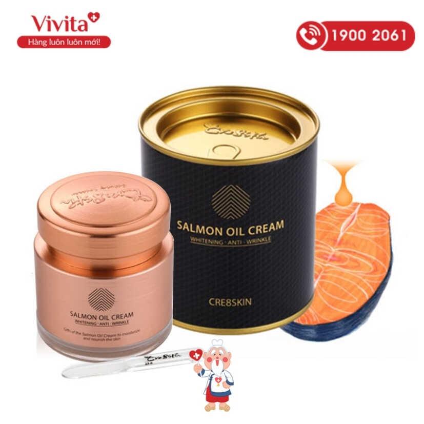 Kem dầu cá hồi Salmon Oil Cream là một sản phẩm cao cấp đến từ hãng mỹ phẩm Cre8skin.