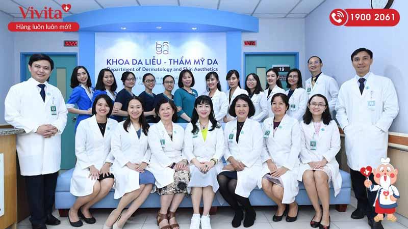 Đội ngũ y bác sĩ Khoa Da liễu - Thẩm mỹ da bệnh viện Đại học Y Dược Thành phố Hồ Chí Minh