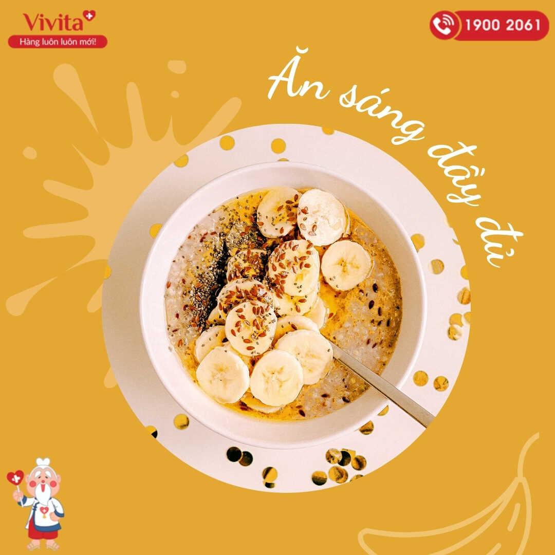 Cải thiện quá trình trao đổi chất nhờ ăn sáng đầy đủ.