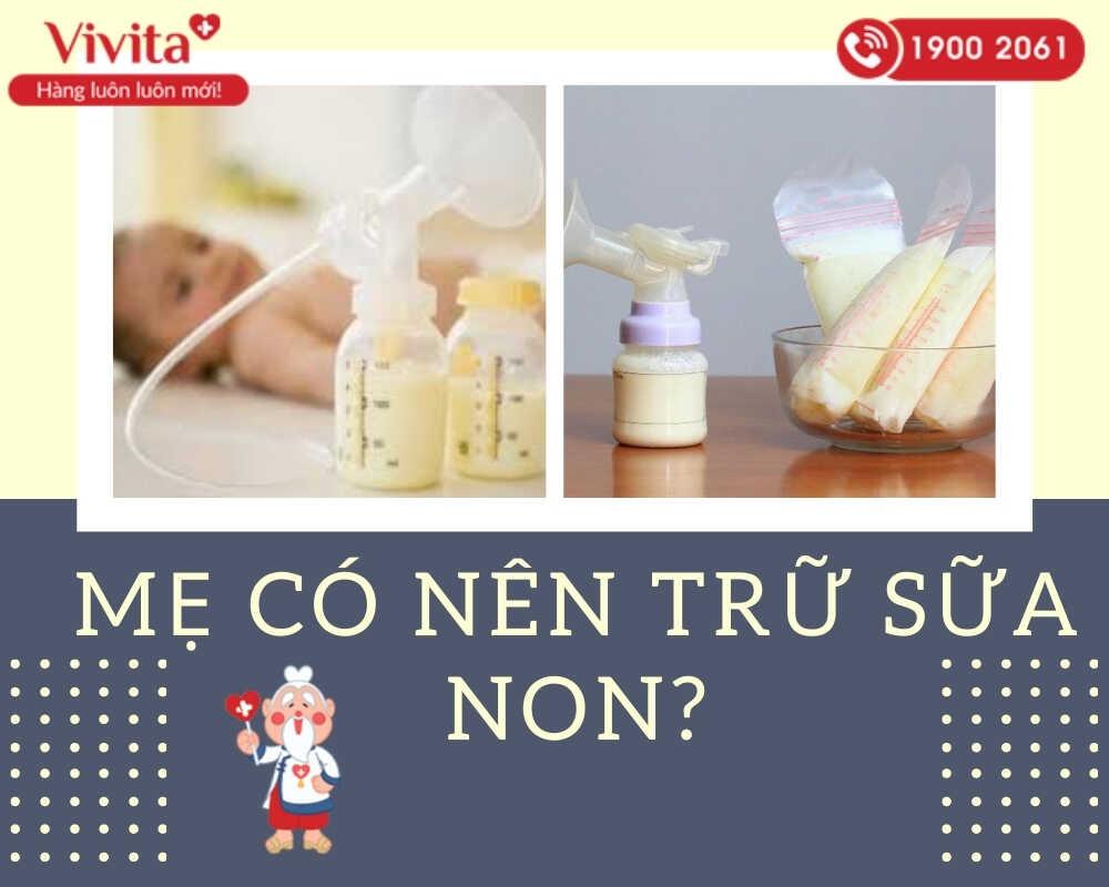 Việc vắt và trữ đông sữa non trước khi sinh là việc không cần thiết, thậm chí còn gây ra một số ảnh hưởng xấu đến mẹ.
