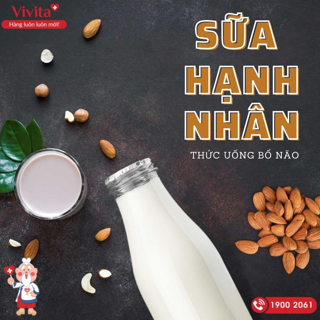 Sữa hạnh nhân đứng đầu danh sách các loại thức uống tốt cho não bộ.