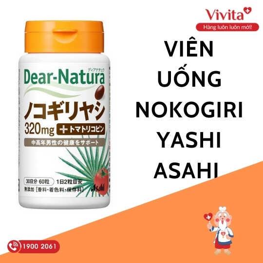 Thành phần đặc biệt quan trọng có trong viên uống Nokogiriyashi Asahi chính là chất Saw Palmetto - chiết xuất từ cây cọ lùn.