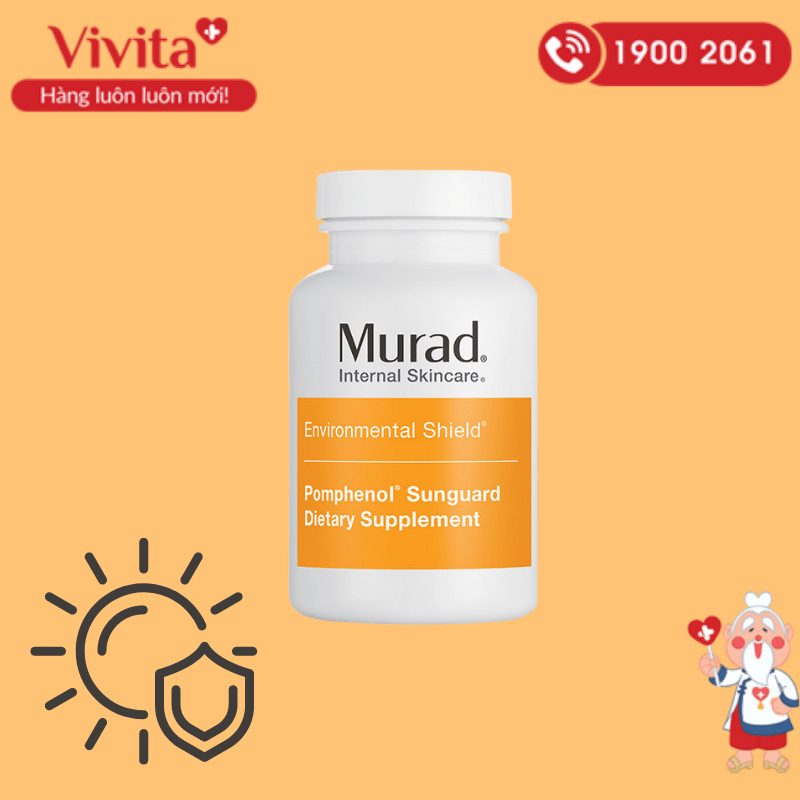 Viên uống chống nắng Murad Pomphenol Sunguard Dietary là sản phẩm đang được rất nhiều người ưa chuộng bởi sự tiện dụng và hiệu quả.