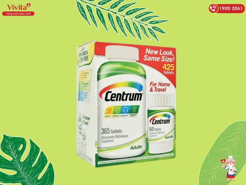 Centrum Adults Multivitamin có chứa đến 30 loại vitamin và chất khoáng thiết yếu cho cơ thể.