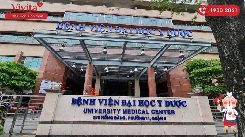 Bệnh viện Đại học Y Dược Thành phố Hồ Chí Minh nơi bác sĩ Viện đang công tác