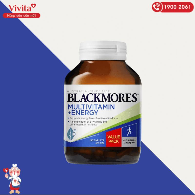 Viên uống Blackmores Multivitamin + Energy là thực phẩm chức năng bổ sung vitamin và khoáng chất hỗ trợ tăng cường sức khỏe và hồi phục năng lượng.