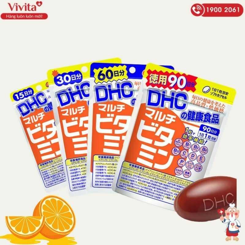 Bên cạnh nhiều loại viên uống cung cấp từng loại vitamin riêng biệt, DHC cũng nghiên cứu và sản xuất thành công viên uống DHC vitamin tổng hợp.