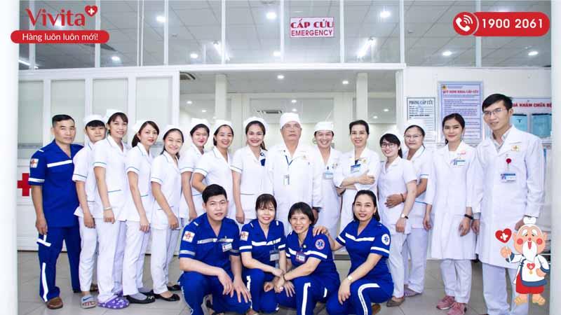 Đội ngũ nhân viên y tế khoa Cấp cứu