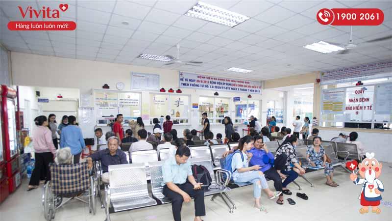 Khu vực đăng ký khám chữa bệnh