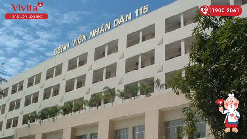 Bệnh viện Nhân dân 115 nơi bác sĩ Ngọc Anh đang công tác