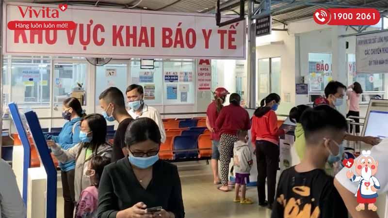 Khu vực khai báo y tế tại bệnh viện