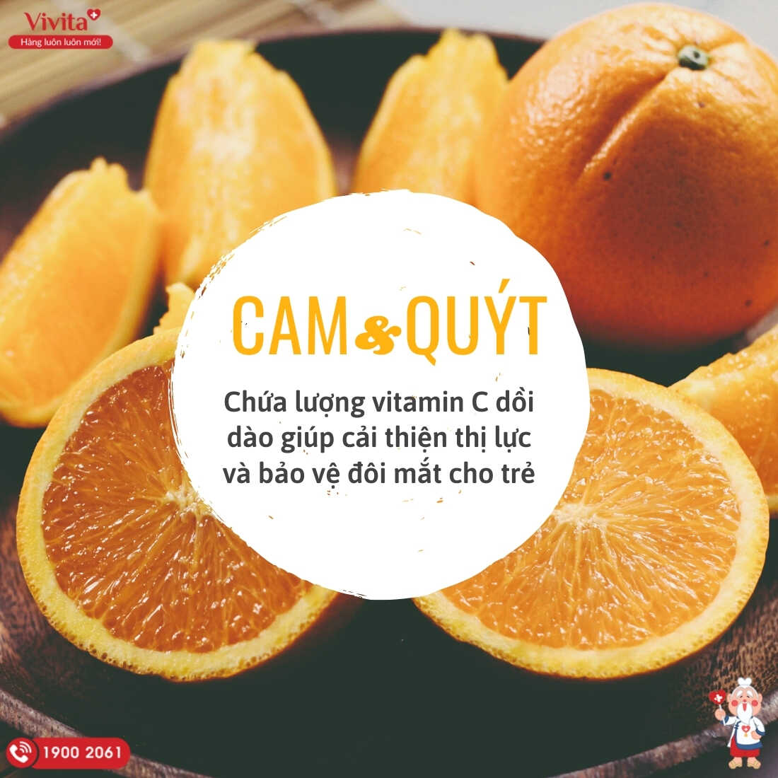 Cam và quýt được biết đến với vai trò là loại trái cây giàu vitamin C nhất.