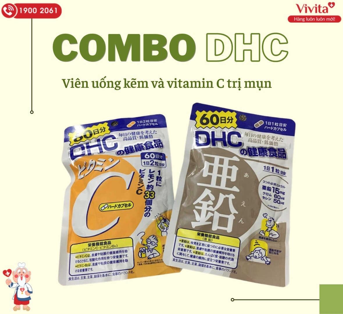 Kiên trì sử dụng combo viên uống kẽm và vitamin C để có hiệu quả tốt nhất cho da.