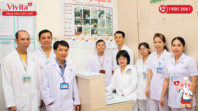 Đội ngũ nhân viên y tế Đơn vị Nội soi của bệnh viện