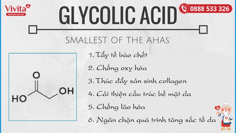 Công dụng của Acid glycolic
