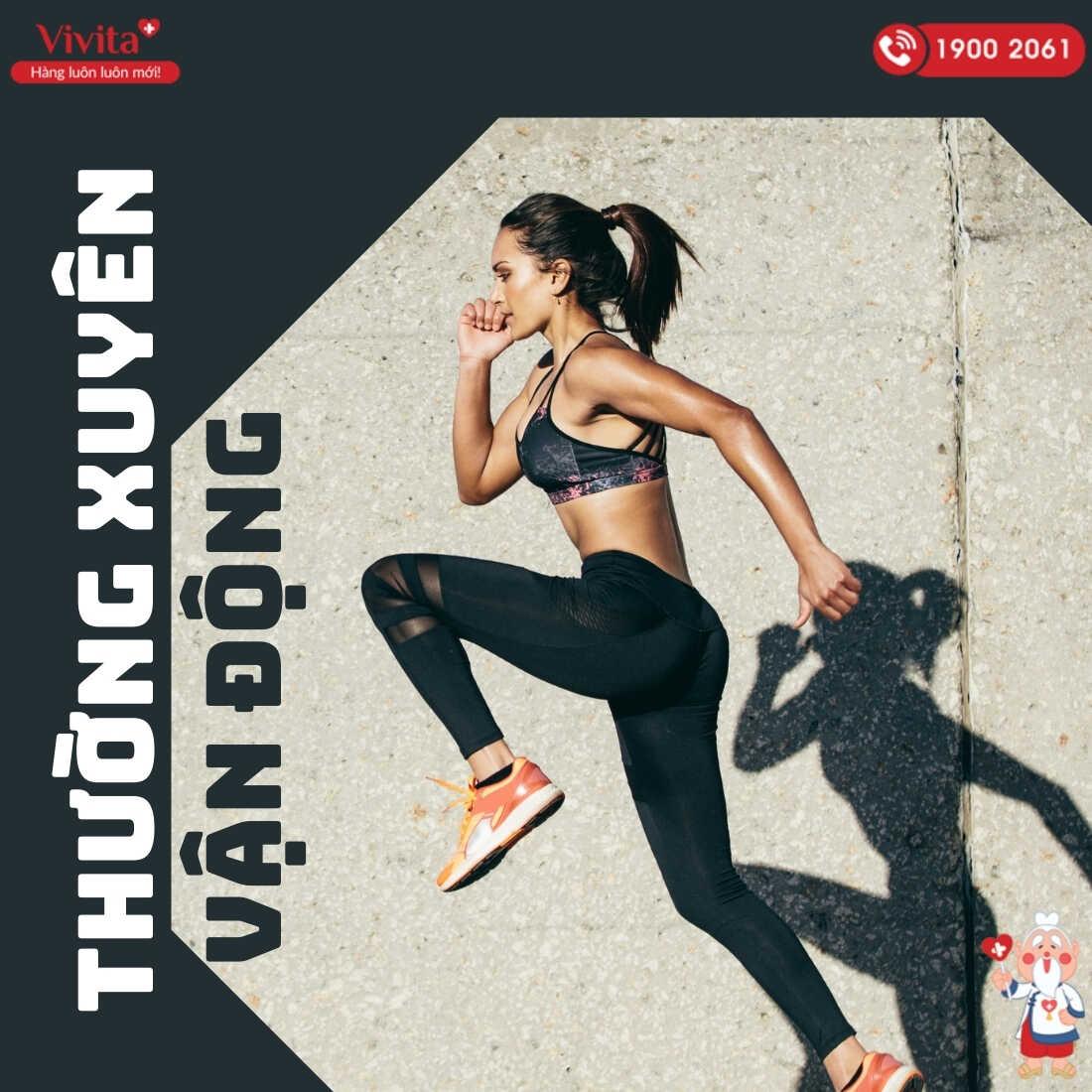 Kết hợp tập luyện để cơ thể khỏe mạnh.