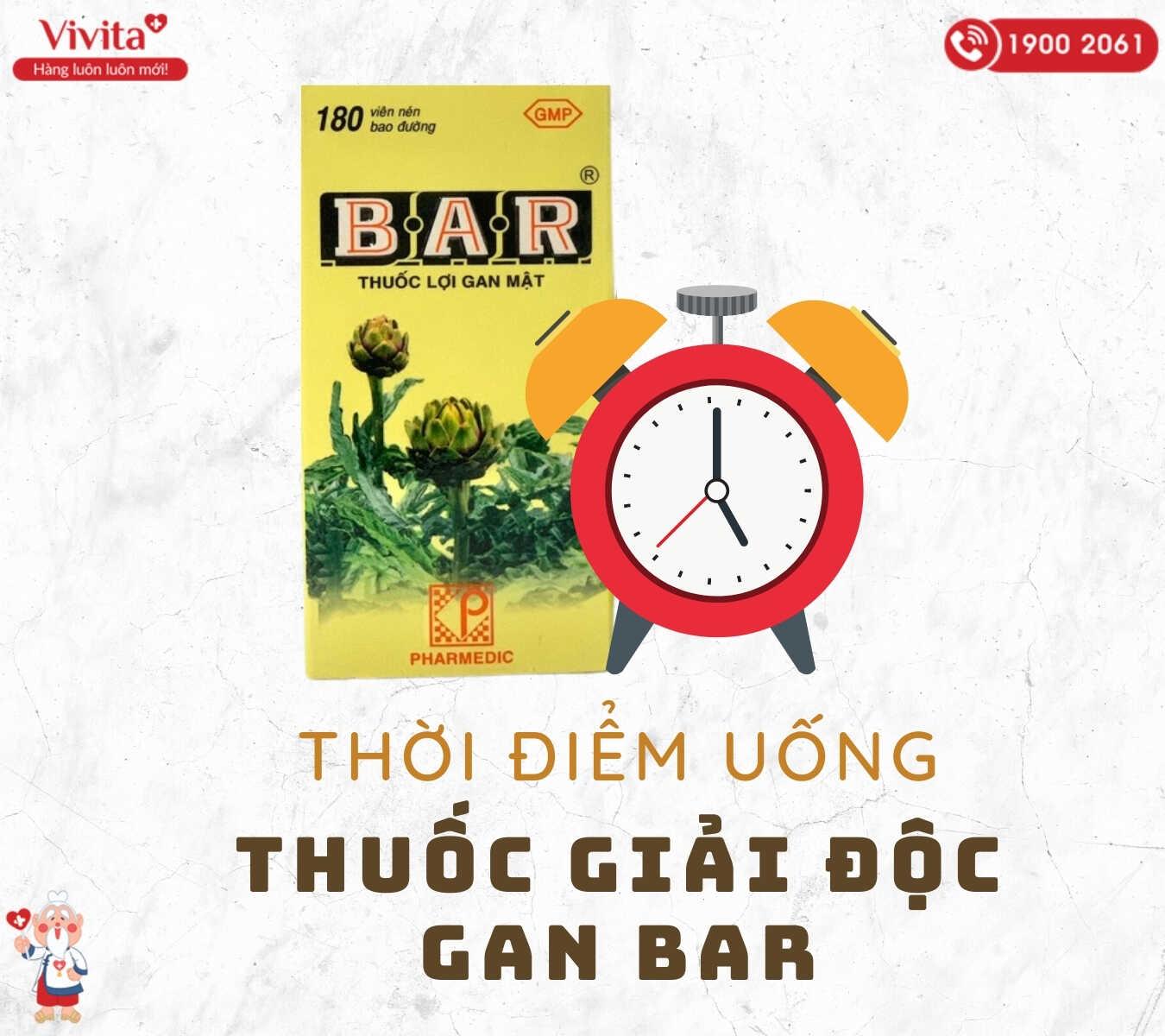 Thời gian thích hợp để dùng thảo dược mát gan Bar là trước bữa ăn.